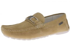 Camel Slip-on Loafer Penny Comfort Leather Driving Shoes