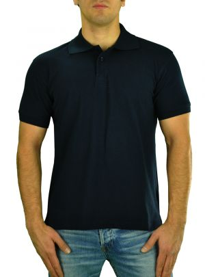 Mens T Jeans Modern Fit Button Down Pique Polo Sport Shirt Navy by Darya Trading