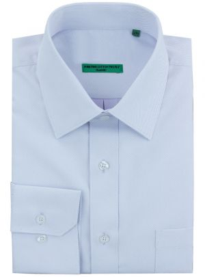 Mens BB Signature Classic Fit Pure Cotton Tone On Stripe Dress Shirt Lt Blue by DTI DARYA TRADING
