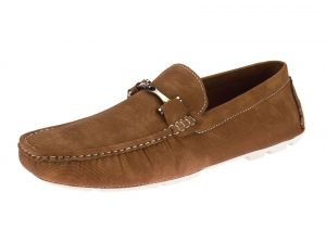 Camel Slip-on Loafer Designer Faux Leather Driving Shoe