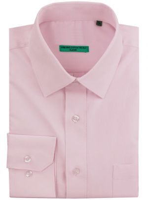 Mens BB Signature Classic Fit Tone On Diamond Pure Cotton Dress Shirt Lt Pink by DTI DARYA TRADING