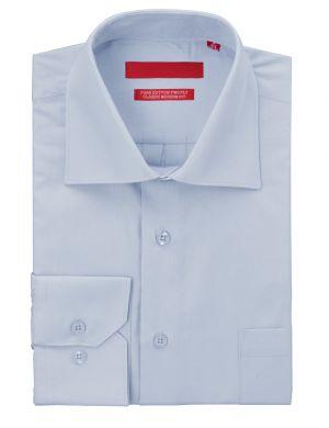Mens GV Executive Dress Shirt Pure Cotton Spread Collar Barrel Cuff Light Blue by DTI DARYA TRADING