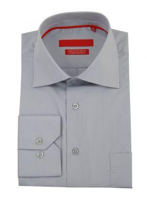 Mens GV Executive Modern Spread Collar Barrel Cuff Cotton Dress Shirt Light Gray by DTI DARYA TRADING