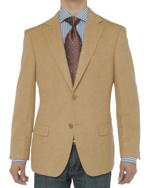 Camelhair Blazer Modern Fit Jacket Camel by Luciano Natazzi