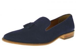 Dark Navy Slip-on Suede Comfort Leather Dress Shoes SL307