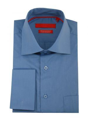 Mens GV Executive Modern Spread Collar French Cuff Cotton Dress Shirt Blue by DTI DARYA TRADING