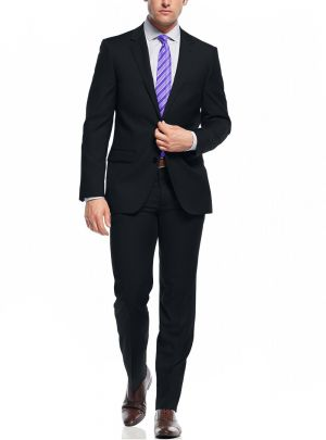 Two Button Slim Fit Working Holes Night Navy by Nicoletti