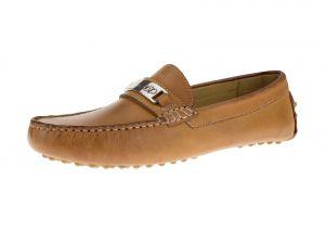 Oily Light Orange Slip-on Loafer Moccasin Comfort Leather Driving Shoes