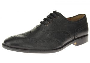 Black Lace-up Wingtip Oxford Full Grain Leather Dress Shoes SL304