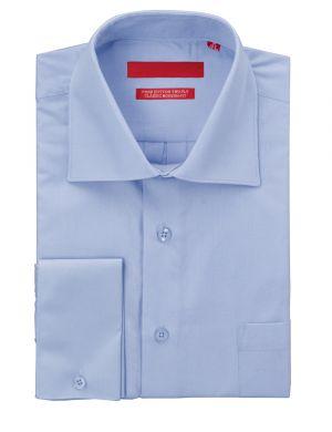 Mens GV Executive Dress Shirt Pure Cotton Spread Collar French Cuff Medium Blue by DTI DARYA TRADING