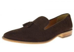 Dark Brown Slip-on Suede Comfort Leather Dress Shoes SL307