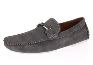 Mens Shoe Monaco Slip-on Loafer Grey by Salvatore Exte