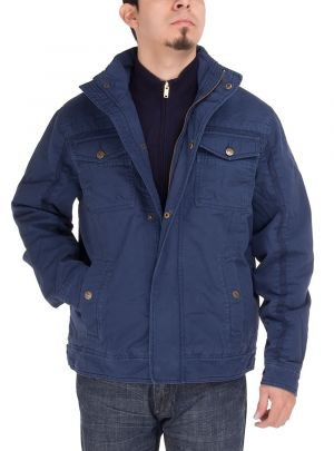 Mens Light Weight Cotton Lightly Thermal Padded Jacket Dk Navy by Luciano Natazzi