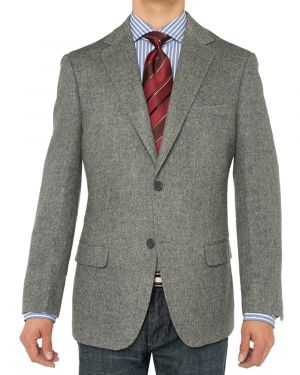 Camelhair Blazer Modern Fit Jacket Gray by Luciano Natazzi