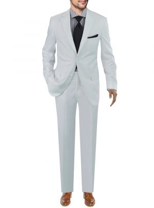 Modern Fit Presidential Two Button White by Giorgio Napoli