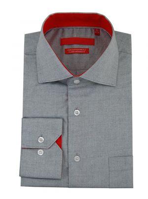 Mens GV Executive 100% Cotton Barrel Cuff Dress Shirt Light Gray by DTI DARYA TRADING