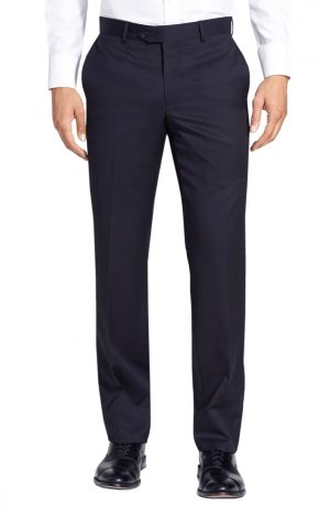 Mens GV Executive Italian Dress Pants Wool Comfort Modern Fit Flat Front Navy by DTI DARYA TRADING
