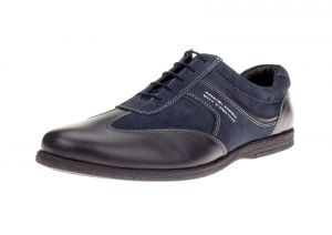 Mens GV Executive Go Kart Leather Shoes Fashion Sneaker Navy by DTI DARYA TRADING