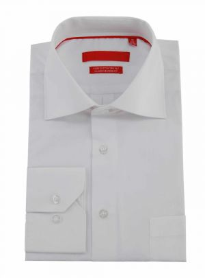 Mens GV Executive Modern Spread Collar Barrel Cuff Cotton Dress Shirt White by DTI DARYA TRADING