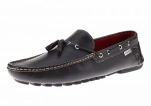 Mens Air Grant Driver Leather Shoes Tassel Driving Slip-on Loafer Brown by Luciano Natazzi