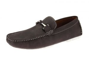 Coffe Slip-on Loafer Designer Faux Leather Driving Shoe