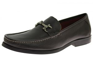 Mens Leather Handmade Shoe Firenze Slip-on Dress Loafer Brown by Luciano Natazzi
