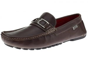 Mens Air Grant Bit Leather Shoes Slip-on Driving Moccasin Loafer Brown by Luciano Natazzi