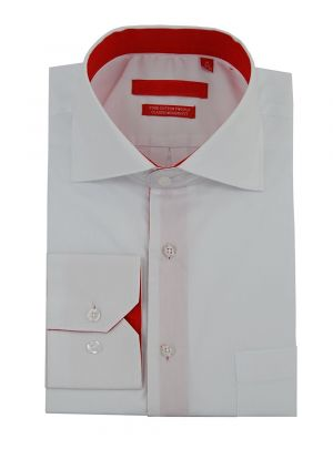Mens GV Executive 100% Cotton Barrel Cuff Dress Shirt White by DTI DARYA TRADING