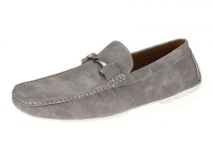 Silver Slip-on Loafer Designer Faux Leather Driving Shoe