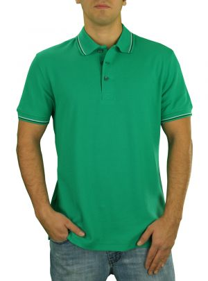 Mens DTI Pique Polo Sport Shirt Solid Short Sleeve Cotton Royal Classic Fit Green by Darya Trading