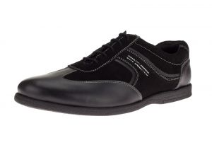 Black Fashion Sneaker Go Kart Comfort Leather Dress Shoe