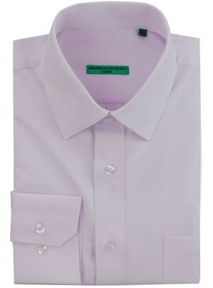 Mens BB Signature Classic Fit Tone On Diamond Pure Cotton Dress Shirt Lavender by DTI DARYA TRADING