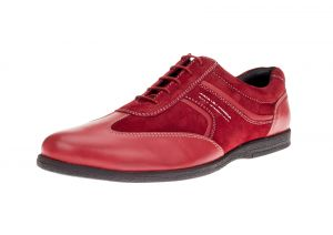 Red Fashion Sneaker Go Kart Comfort Leather Dress Shoe