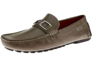 Mens Air Grant Bit Leather Shoes Slip-on Driving Moccasin Loafer Oily Grey by Luciano Natazzi