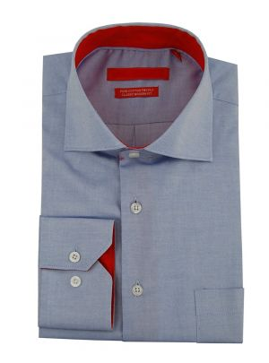 Mens GV Executive 100% Cotton Barrel Cuff Dress Shirt Light Blue by DTI DARYA TRADING