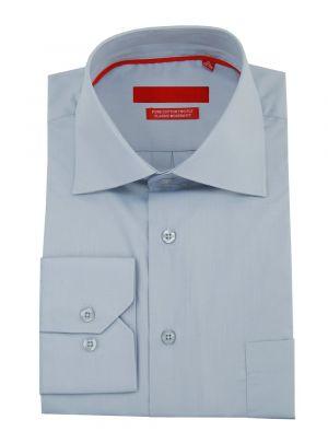 Mens GV Executive Modern Spread Collar Barrel Cuff Cotton Dress Shirt Light Blue by DTI DARYA TRADING