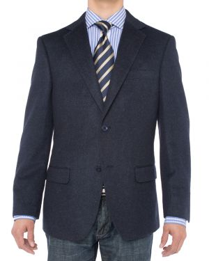 Camelhair Blazer Modern Fit Jacket Navy by Luciano Natazzi