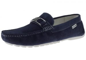 Mens Air Grant Penny Suede Leather Shoes Original Slip-on Driving Loafer Navy by Luciano Natazzi