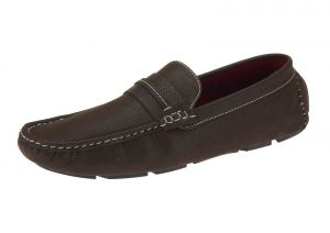 Coffee Slip-on Loafer Designer Faux Leather Driving Shoe