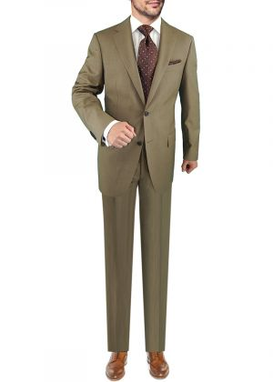 2 Button Nano Luxury Technology Vantage Wool Technical Stretch Tan by Darya Trading