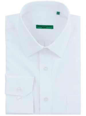 Mens BB Signature Classic Fit Pure Cotton Tone On Stripe Dress Shirt White by DTI DARYA TRADING
