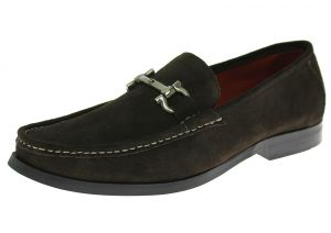 Mens Handmade Suede Leather Shoes Lucca Slip-On Loafer Coffee Brown by Luciano Natazzi
