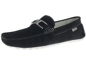 Mens Air Grant Penny Suede Leather Shoes Original Slip-on Driving Loafer Black by Luciano Natazzi