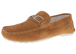 Mens Air Grant Penny Suede Leather Shoes Original Slip-on Driving Loafer Tan by Luciano Natazzi