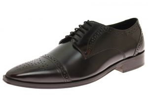 Mens Handmade Leather Shoe Dolce Antique Finish Captoe Lace-up Ox-Blood by Luciano Natazzi