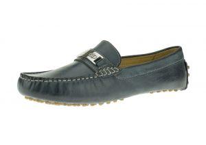 Ocean Blue Slip-on Loafer Moccasin Comfort Leather Driving Shoes