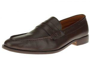 Dark Brown Slip-on Penny Comfort Full Grain Leather Dress Shoes SL308