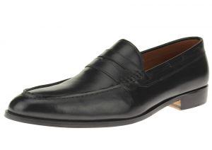Black Slip-on Penny Comfort Full Grain Leather Dress Shoes SL308