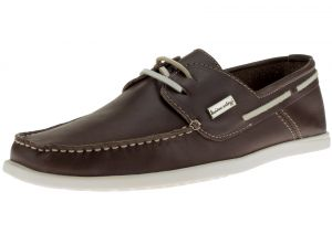 Mens Leather Yacht Club Original 2 Eye Boat Shoe Brown by Luciano Natazzi