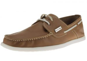 Mens Leather Yacht Club Original 2 Eye Boat Shoe Tan by Luciano Natazzi